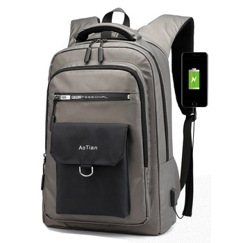 Fashion Waterproof Large Capacity Travel Smart USB charging back pack bag Business Laptop Backpack 15.6 inch