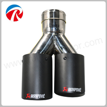 89mm Stainless Steel carbon fiber akrapovic exhaust tips