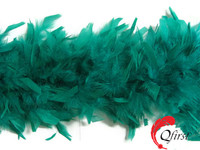 Sexy scarf wholesale bulk dyed peacock green turkey chandelle feather boas for costumes