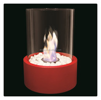 Round Smokeless Table Glass Small Bio Ethanol Fireplace