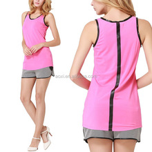 Wholesale online shopping summer sleeveless knitted ladies sports gym tank top