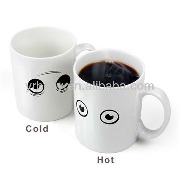 Personailzed Ceramic Color Changing Coffee Milk Mug Wake Up Cup