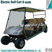 6 seats pure electric golf buggy EG2068K01,48V/5KW Sepex