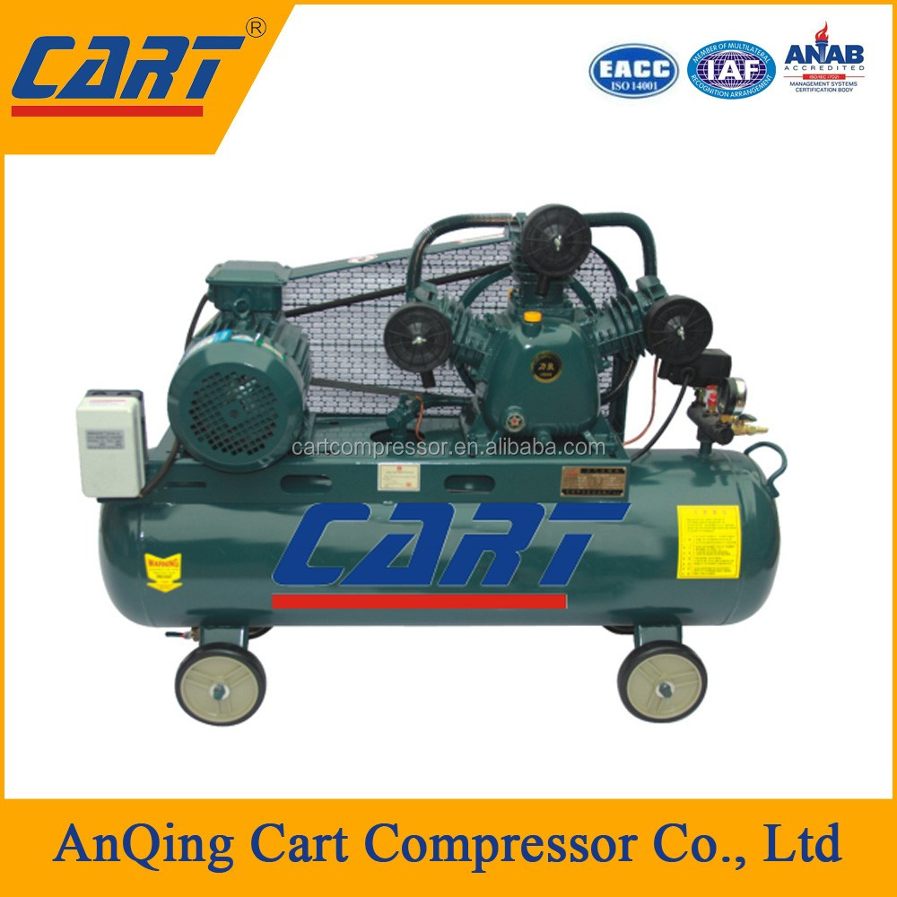 CART factory direct selling portable piston air compressor with air tank