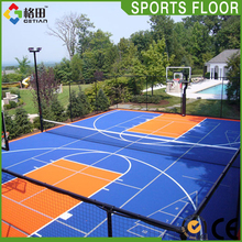 Hot Sale multi-purpose sports court flooring,interlocking pp outdoor mini basketball court sports,interlocking tile for sports