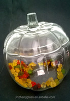 Anchor Hocking Clear Glass Pumpkin Cookie Jar Canister Made for Dunkin Donuts