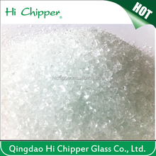 Crushed recycled concrete clear glass aggregate