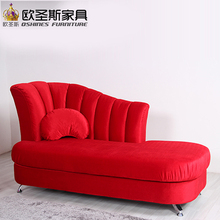 *red bright color fabric wedding sex fashion sofa chair 107