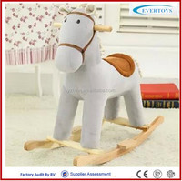 stick lovely wooden rocking horse toy