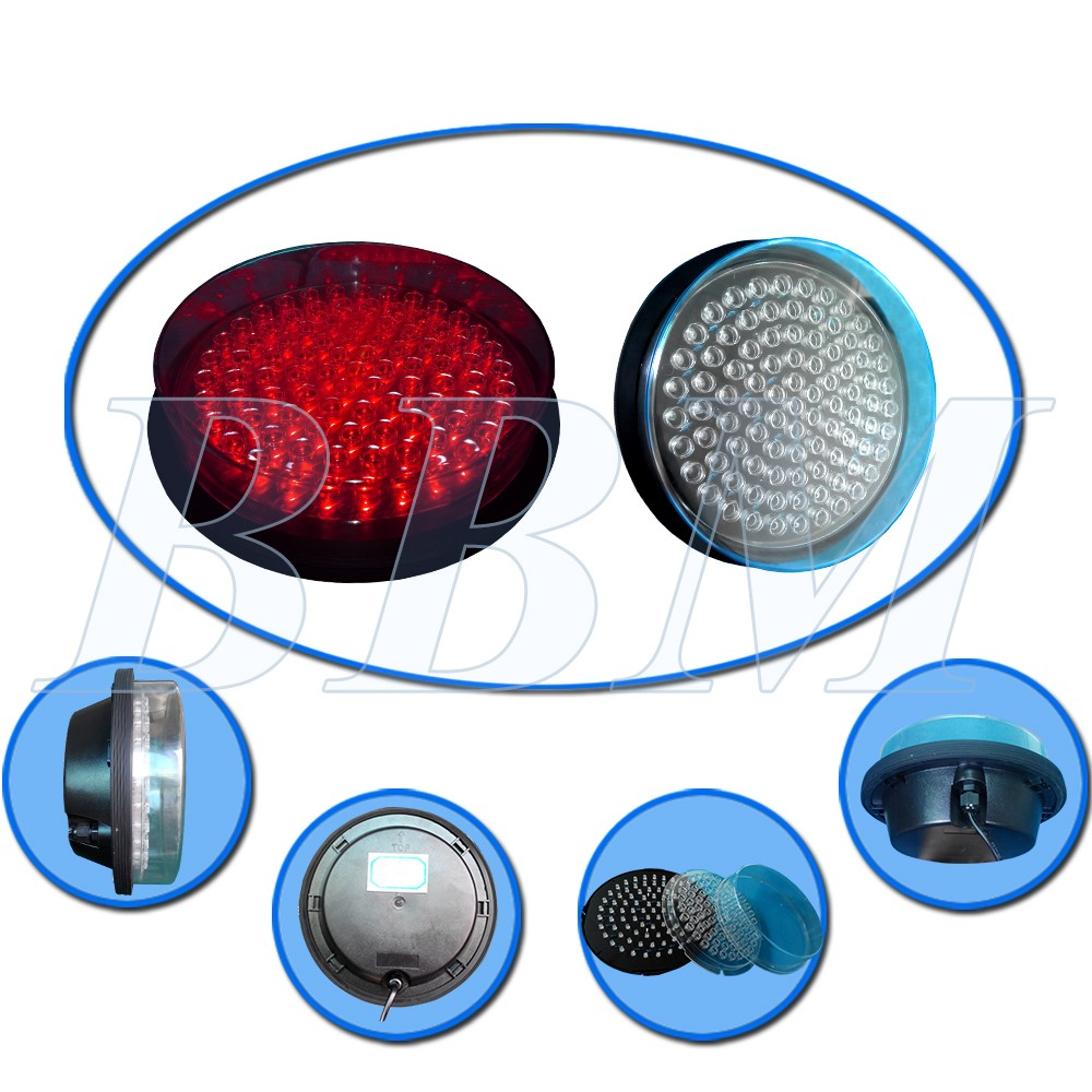 200mm red led module traffic signal lamp