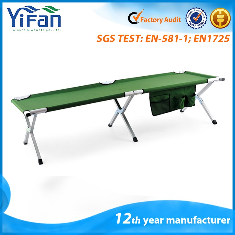 Portable Outdoor Aluminum Military Folding Camping Cot