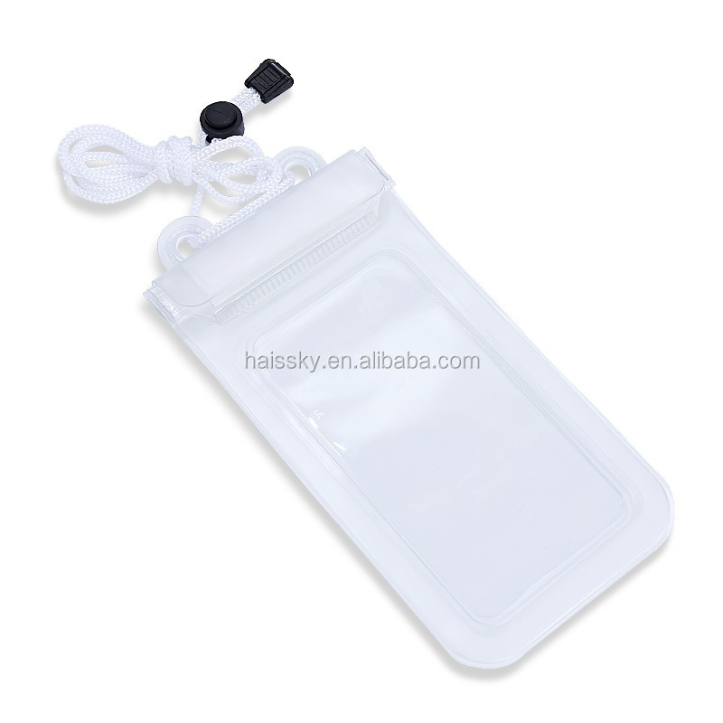 Wholesale transparent waterproof beach bag phone bag for smart phone