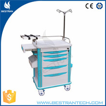 China BT-EY005 Hospital medical cheap clinic trolley, emergency crash cart, resuscitation trolley price