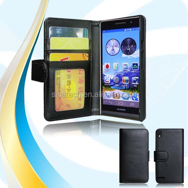 Hot sale!!! original leather flip case for Huawei Ascend p7