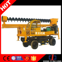 New Conditional Top Pile Drive Auger Head Portable Water Well Drilling Rig From China
