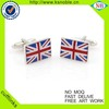 Wholesale UK flag souvenir metal cufflink custom men's enamel cufflinks