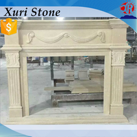 China Marble Fireplace Cultured Marble Fireplace
