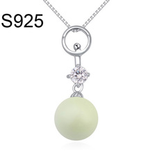 Made With Swarovski Element Pearl Necklace 925 Steriling Silver