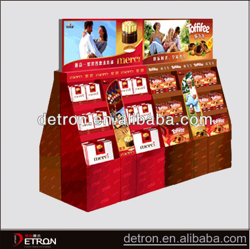 Best hot supermarket shelves cardboard shelves pop display
