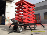 Diesel and electric engine mobile scissor motorcycle lift platform