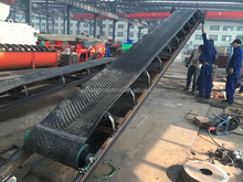 Rubber Nylon Mining Belt Conveyor with Flat or Ribbed Belt for Option