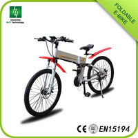 A best folding Mountain Electric Bike with good price, foldable bicycle with LCD display,26 Inch folding bicycle