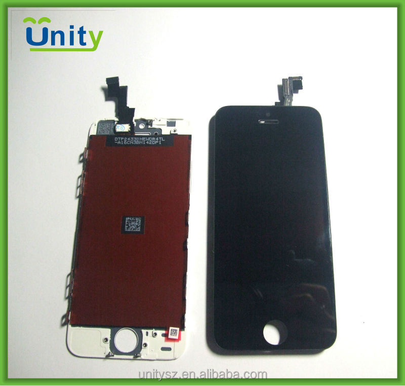 Mobile phone parts black, white LCD with digitizer for iPhone 5s