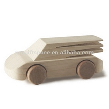 2018 new fashion hot sales China product children gift wholesale decorative kid hand carving model ornament eco unique wood car