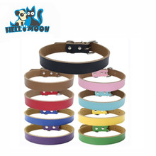 Colorful Simply Comfortable Real Leather Personalized Pet Dog Collars And Leashes