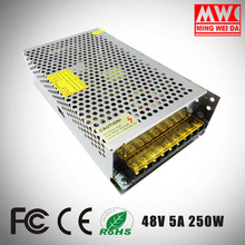250w switching power S-250-48 AC 110v 220v to DC 48 volt 5a Voltage SMPS Driver Transformer 48v 250w Led Switching Power Supply