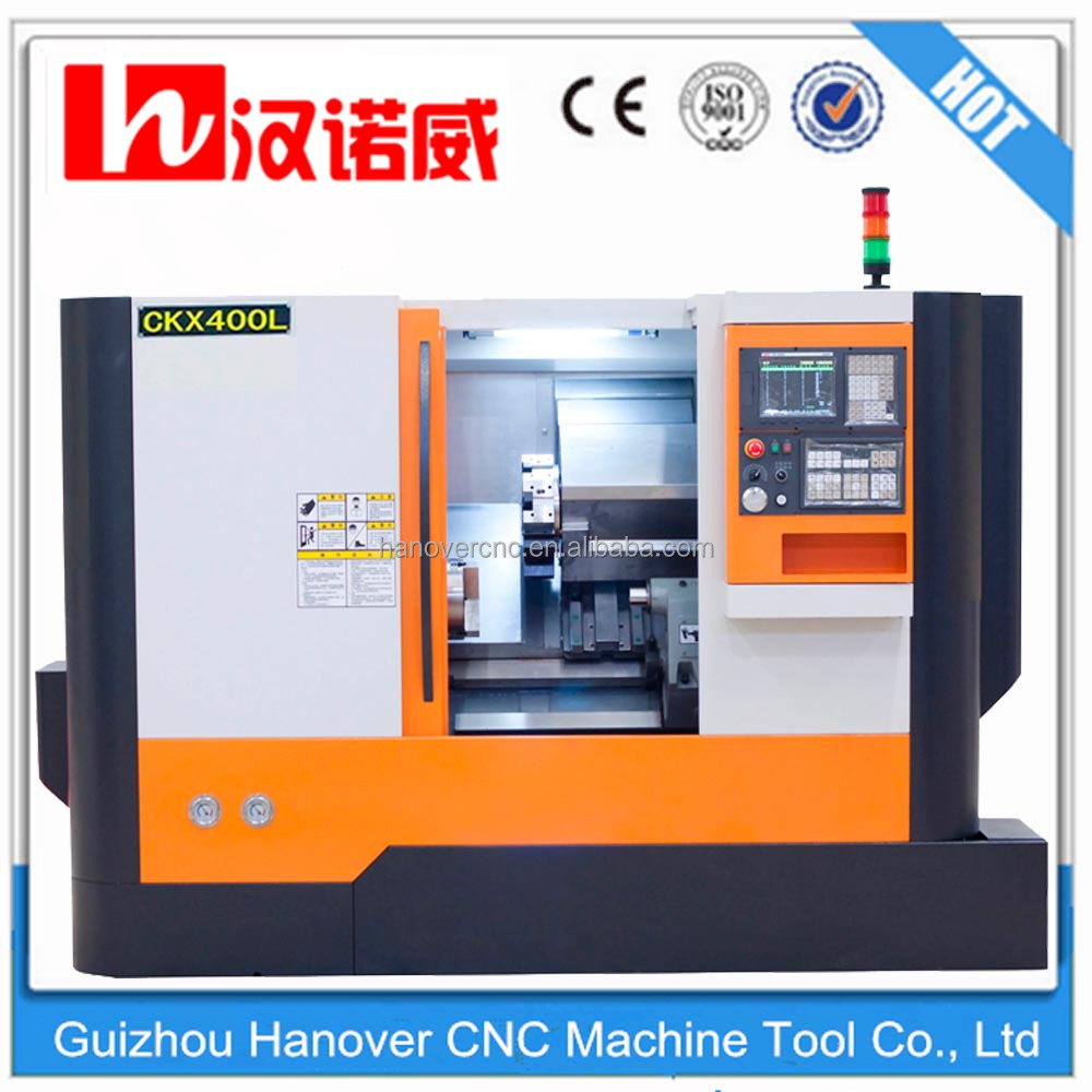 "automatic cnc turning lathe machine tool CKX400L slant bed design brake lathe for sale tool turret type 8"" hydraulic chuck"