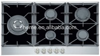 Strong Structure Tempered Glass 5 Burners Built-in Kitchen Gas Hob PG9051LG-HC2BI1
