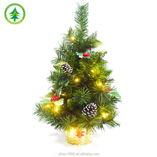 2016 New Design Mini Led light Christmas Tree ornament for Table