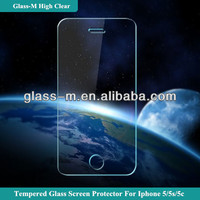 Hot blue film mobile phone accessory for iphone 5s screen cover glass protector