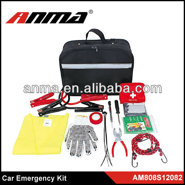 52pc car roadside emergency kit with first aid kit/germany auto emergency kit