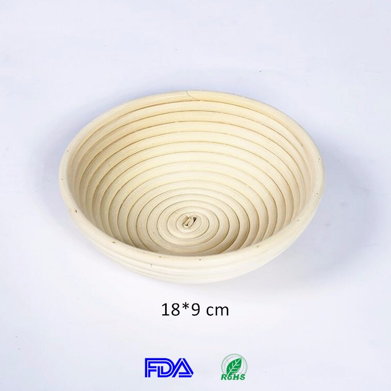 18*9 cm Round Rattan Pastry Tools Brotform Wholesale Banneton Bowl Bread Proofing Basket