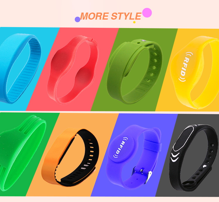 Customization Multi-Colors Logo Printing Passive Wristband RFID