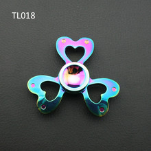 Figit Spinners Metal Tri Hand Spinner Finger 3 Leaves Wing Gyro Spinning Top Fidget Gyroscope Rotating Toy