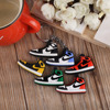 Hot sale 100 styles soft PVC Air Jordan mini shoes keychain