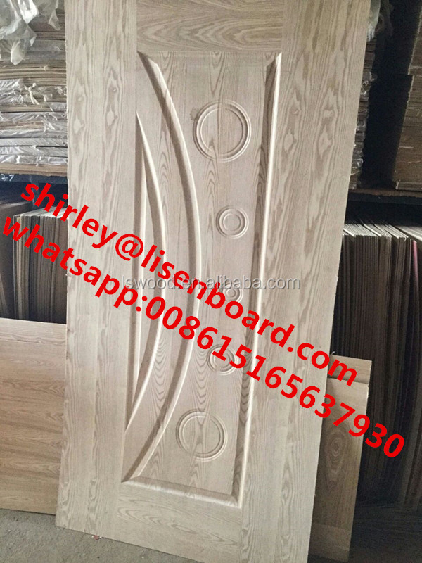 Ash Melamine Door Skin 4.2mm 3mm ,Veneer Moulded Mdf door skin