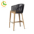 Foshan supplier high quality luxury comfortable teak wood 5 star hotel outdoor garden salon dining high bar stool chair
