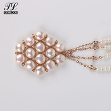2018 artificial cubic zirconia pearl necklace costume jewellery,simple design pearl necklace