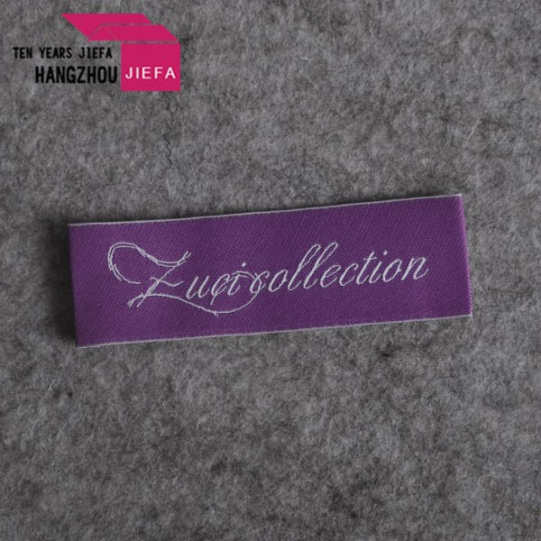 Top Quality high quality brand Woven Labels Cotton Woven Labels damask woven tag for clothing