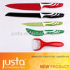 new design swiss line color kitchen Knife with a peeler
