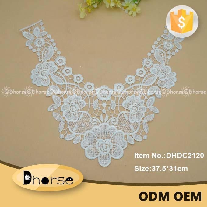 Wholesale crochet chemical fancy embroidery lace collar pattern DHDC2120