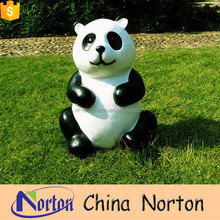 Norton cute large fiberglass seated panda sculpture for zoo project NTRS-CS154L