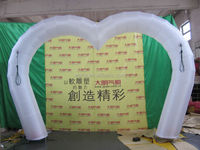 Wedding event decoration inflatable arch door/white/inflatable heart arch 4m*3m W534