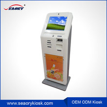 Self service touch screen payment ticket dispenser machine kiosk sell in America