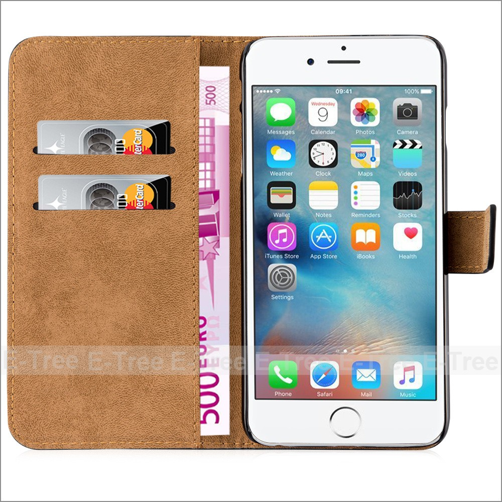 Luxury Leather Cover Wallet Stand Case For Apple iphone 6plus