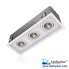 Gauge Steel Trimmed or Trimless Residential 3-Lamp New Construction or Remodel Mini Multiple COB LED Downlight